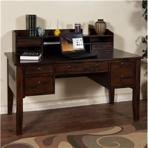 Sunny Designs Santa Fe Writing Desk & Hutch