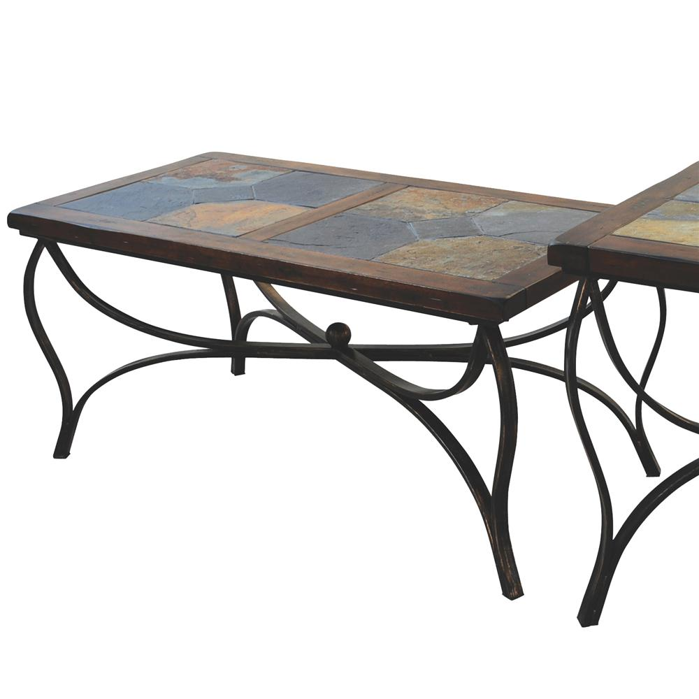 Sunny Designs Santa Fe 3125DC-C Traditional Natural Slate Top Coffee Table | John V Schultz ...