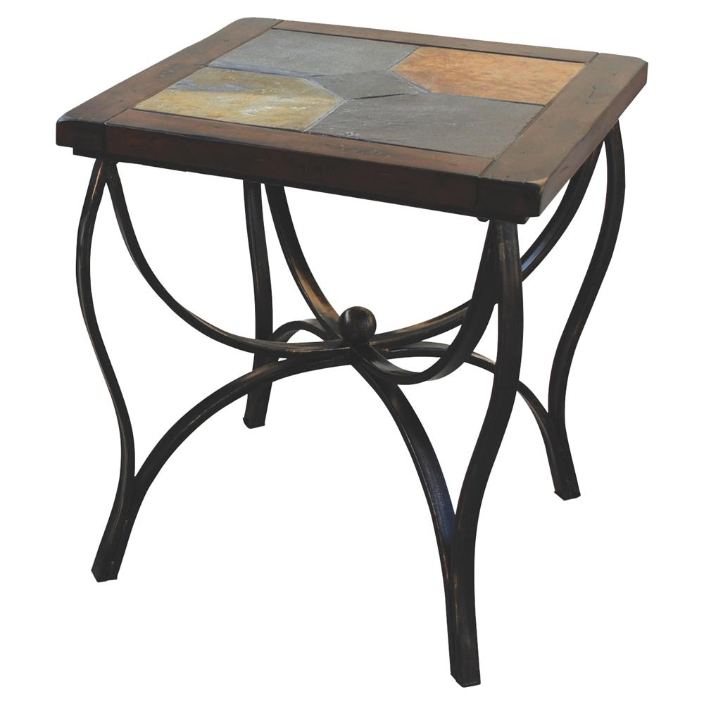 Sunny Designs Santa Fe Slate Top End Table - Item Number: 3125DC-E