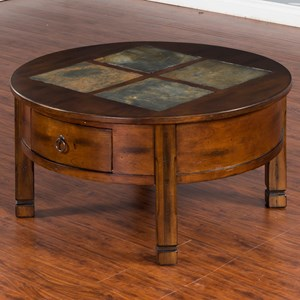 Sunny Designs Santa Fe Round Coffee Table