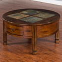 Sunny Designs Santa Fe Round Coffee Table - Item Number: 3143DC-CR