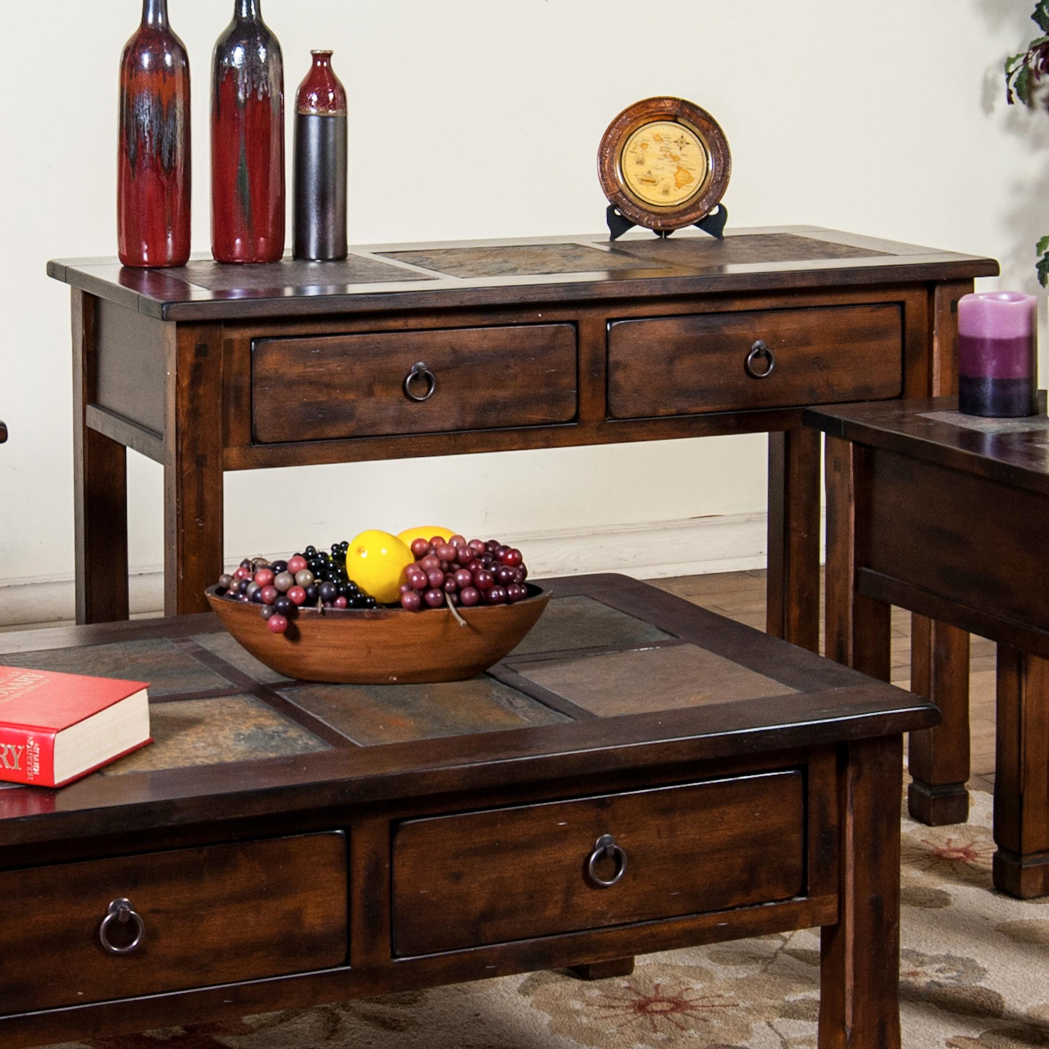 Sunny Designs Santa Fe Sofa/Console Table w/ Slate Top - Item Number: 3145DC