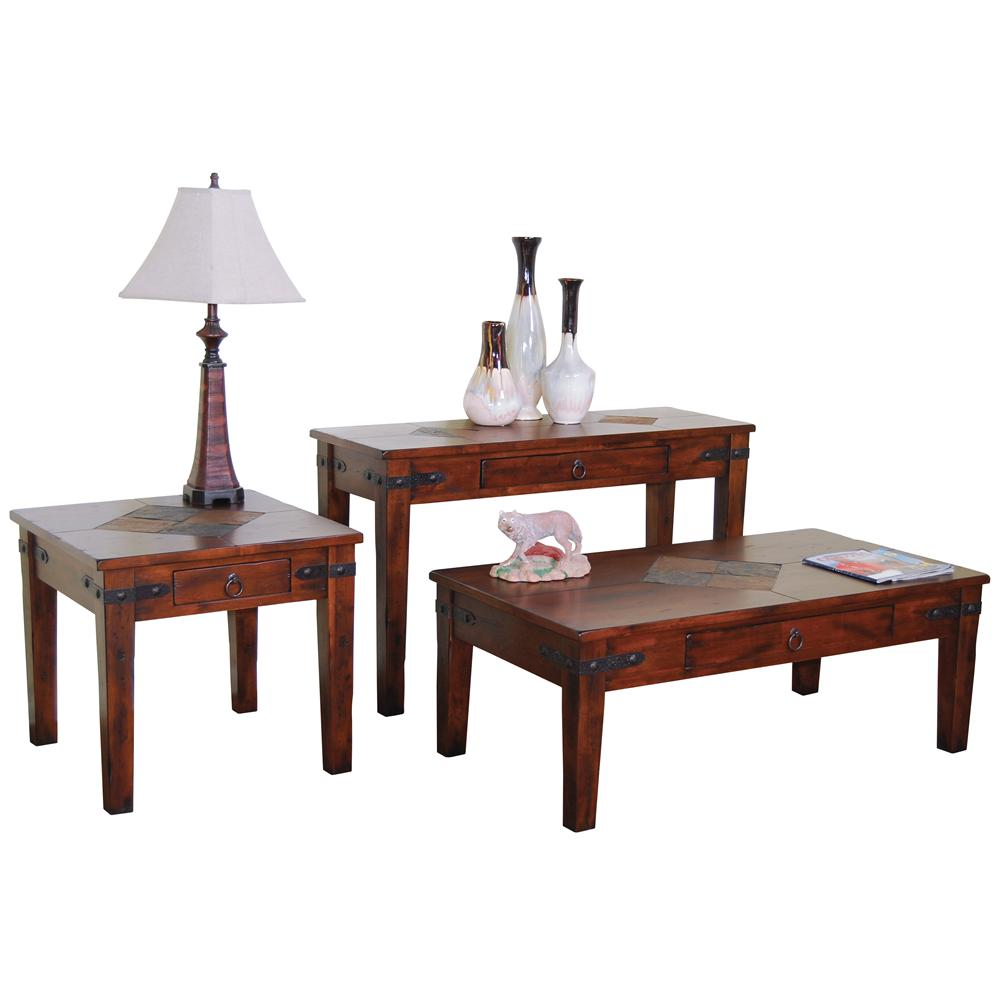 Sunny Designs Santa Fe Traditional 1 Drawer Coffee Table Fashion Furniture Cocktail Coffee