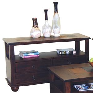 Market Square Morris Home Furnishings Duck Lake 4 Drawer Sofa Table