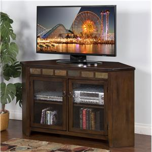 "Morris Home Furnishings Morris Home Furnishings Cedar Pointe 55"" Corner Console"
