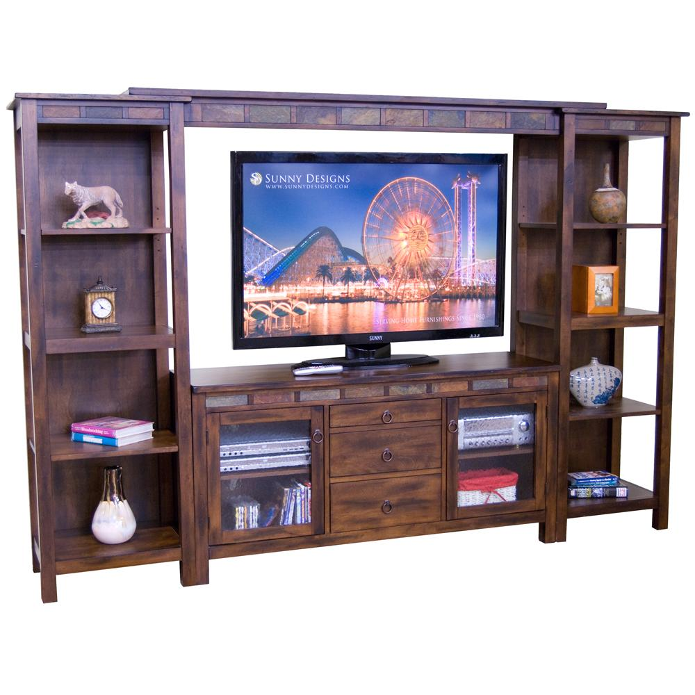 Morris Home Furnishings Morris Home Furnishings Seneca 4 Piece Wall Unit - Item Number: 3403DC-TC+B+2xP