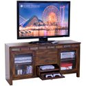 Sunny Designs Santa Fe Rustic 60 Inch TV Console with Game Drawer - Bottom Game Drawer