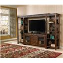 Sunny Designs Santa Fe Rustic 60 Inch TV Console with Game Drawer - Shown with Matching Piers and Bridge