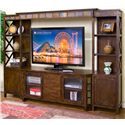 "Sunny Designs Santa Fe 4-Piece Entertainment Wall w/ 60"" TV Console - Item Number: 3416DC"