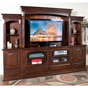 Sunny Designs Santa Fe 6Pc Entertainment Wall