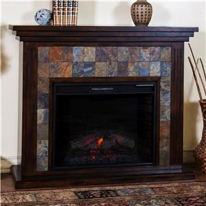 "Sunny Designs Santa Fe Fireplace Media Console w/ 28"" Firebox"