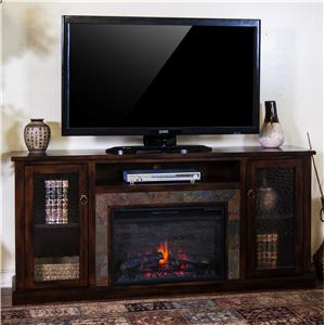 Sunny Designs Santa Fe Fireplace Media Console w/ Firebox