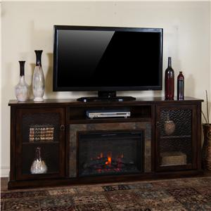Sunny Designs Santa Fe Fireplace Media Console w/ Firebox