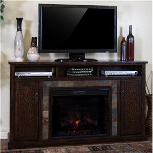 "Sunny Designs Santa Fe Fireplace TV Console w/ 28"" Firebox"