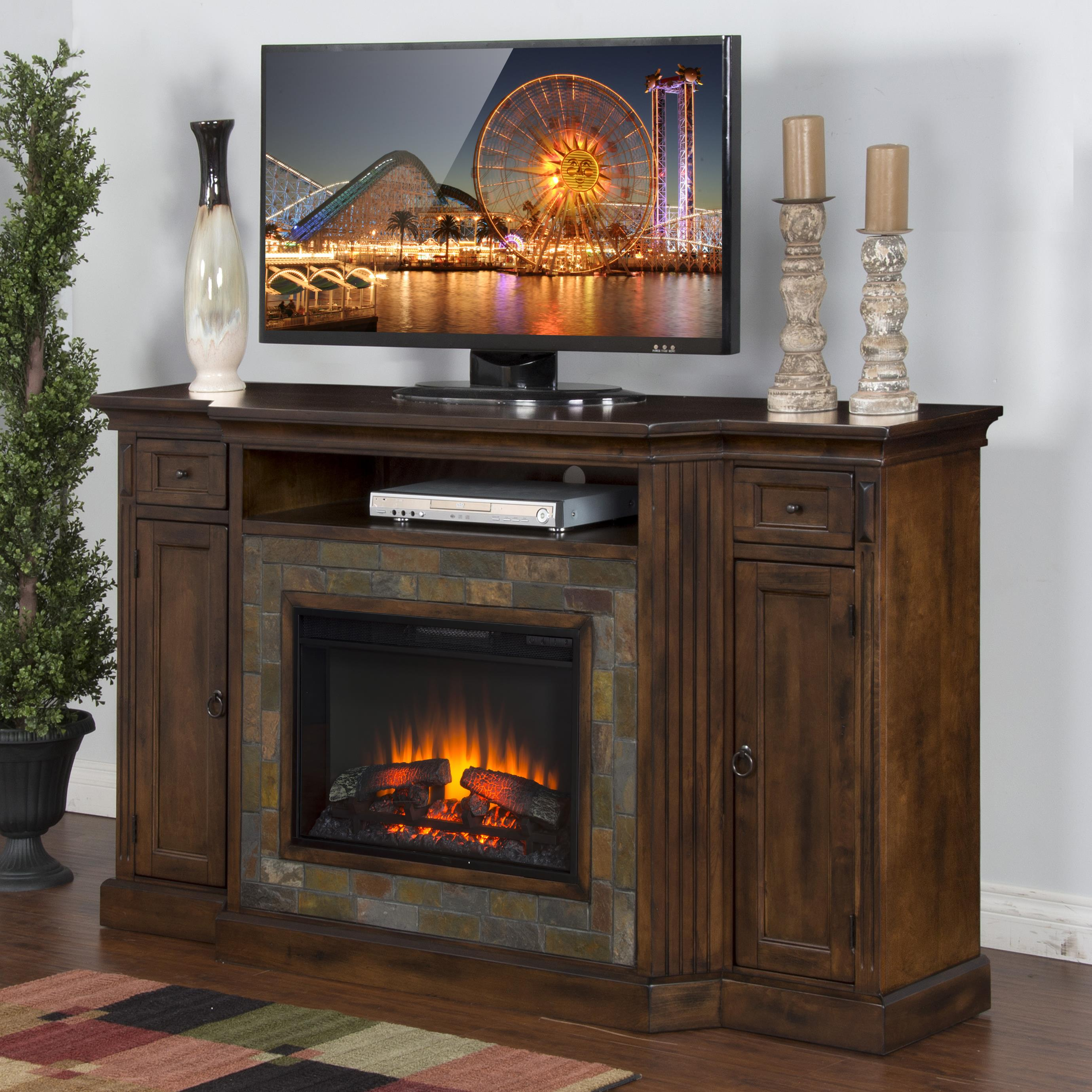 Fireplace TV Console w/  26