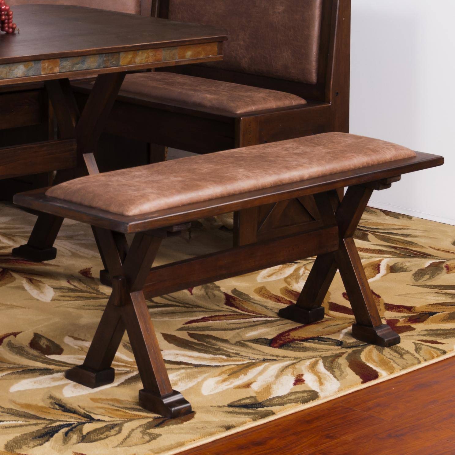 Sunny Designs Savannah Side Bench W X Base Knight Furniture Mattress Dining Benches