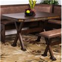 Sunny Designs Savannah Table w/ X-Base - Item Number: 0222AC-T
