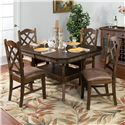 Sunny Designs Savannah 5-Piece Adjustable Height Table Set - Item Number: 1151AC+4x1415