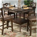 Sunny Designs Savannah 5-Piece Adjustable Height Table Set - Table at Counter Height. Stools Sold Separately.