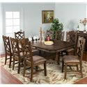 Sunny Designs Savannah 9-Piece Adjustable Height Table Set - Item Number: 1151AC+8x1415