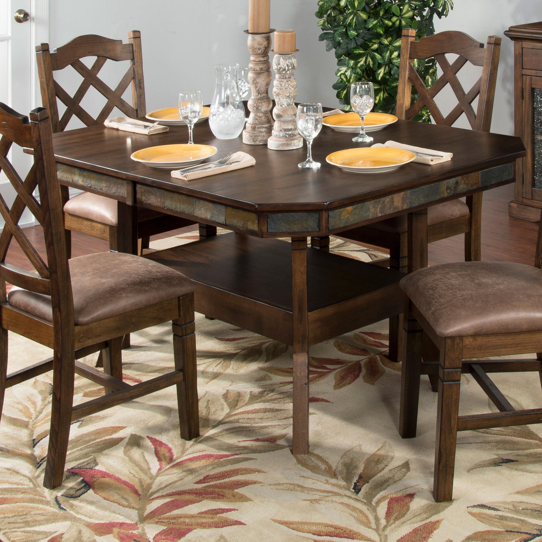sunny designs savannah adjustable height dining table w 2 butterfly rh suburbanfurniture com adjustable height kitchen work table