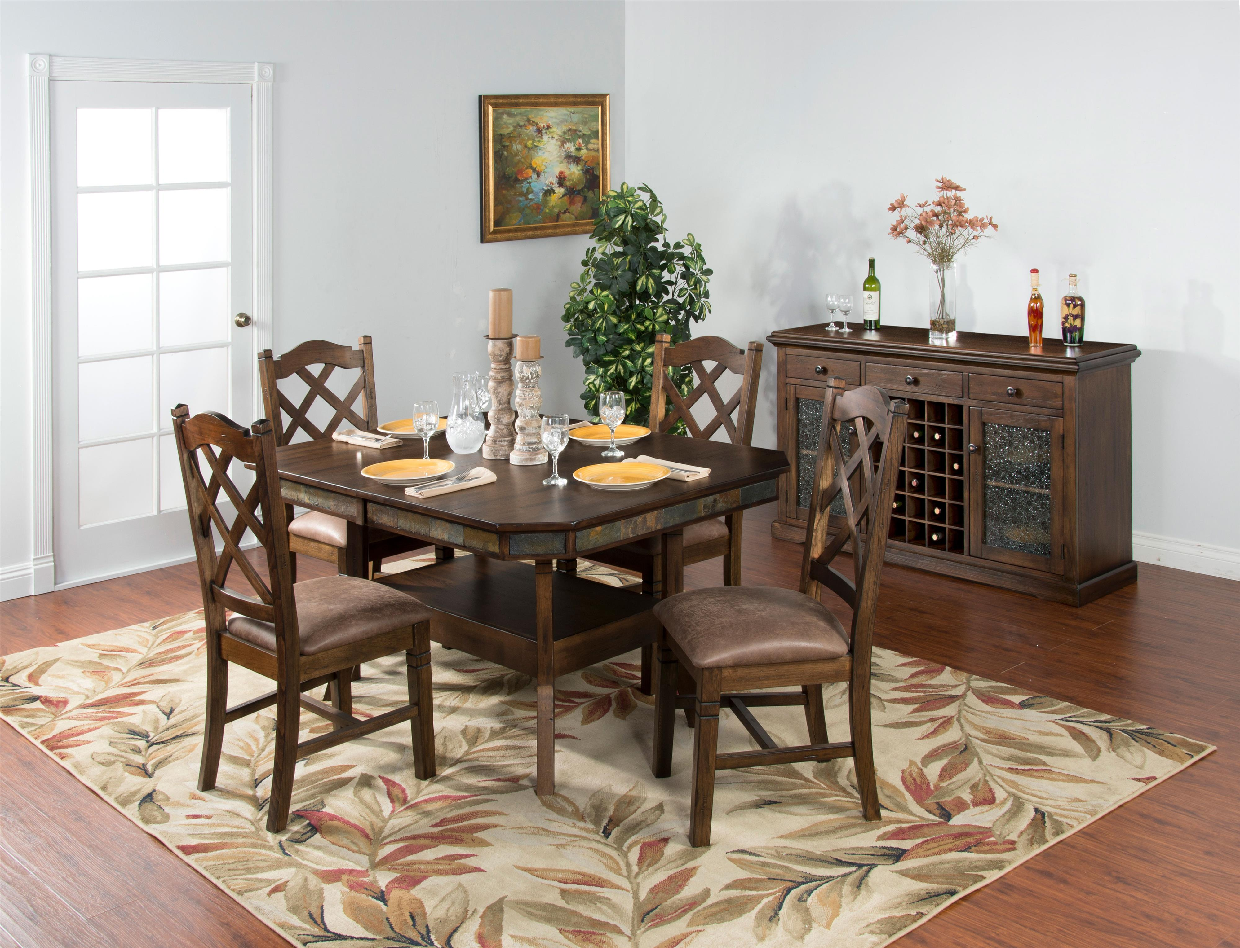 Sunny Designs Savannah Adjustable Height Dining Table w 2  : products2Fsunnydesigns2Fcolor2Fsavannah20ac1151ac b2 from www.fashionfurnitureco.com size 4000 x 3060 jpeg 1144kB