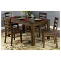 Sunny Designs Savannah 5-Piece Dining Table w/ Slate Top Set - Item Number: 1170AC+4x1616