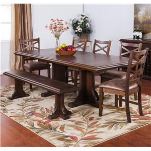 Sunny Designs Savannah Expandable Table Set with Bench