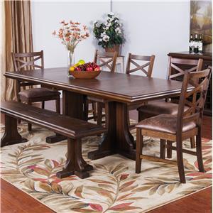 Morris Home Furnishings Shiloh Stratford Table Top & Base