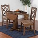 Sunny Designs Savannah 3-Piece Drop Leaf Table Set - Item Number: 1223AC+4x1415