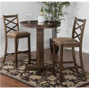 Sunny Designs Savannah 3-Piece Pub Table with Adjustable Height Set