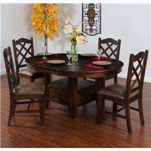 Sunny Designs Savannah 5-Piece Adjustable Height Table Set