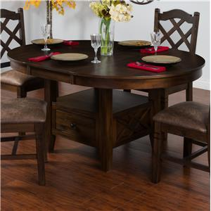 Sunny Designs Savannah Adj. Height Oval Butterfly Table