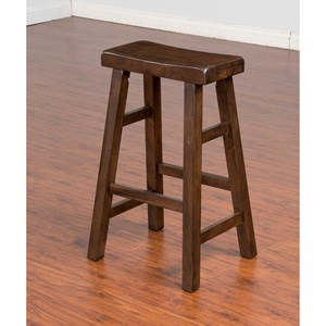 "Sunny Designs Savannah Saddle Seat Stool, 30""H"