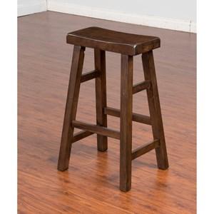 "Sunny Designs Savannah Saddle Seat Stool, 30""H"
