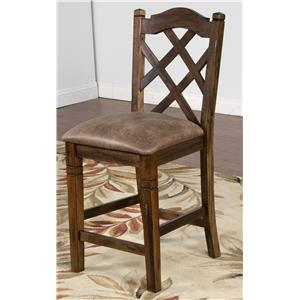 "Sunny Designs Savannah Double Crossback Stool, 24""H"