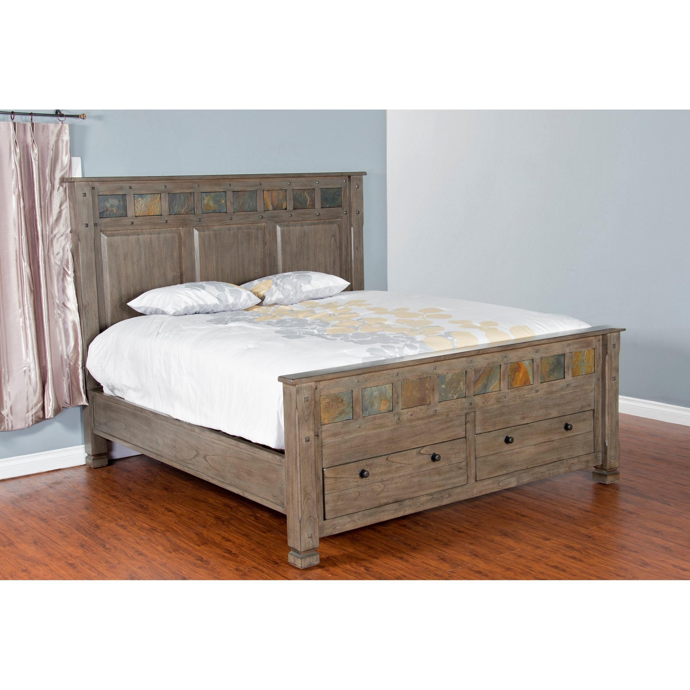 Sunny Designs Scottsdale Queen Bed w/ Storage   Fashion ...