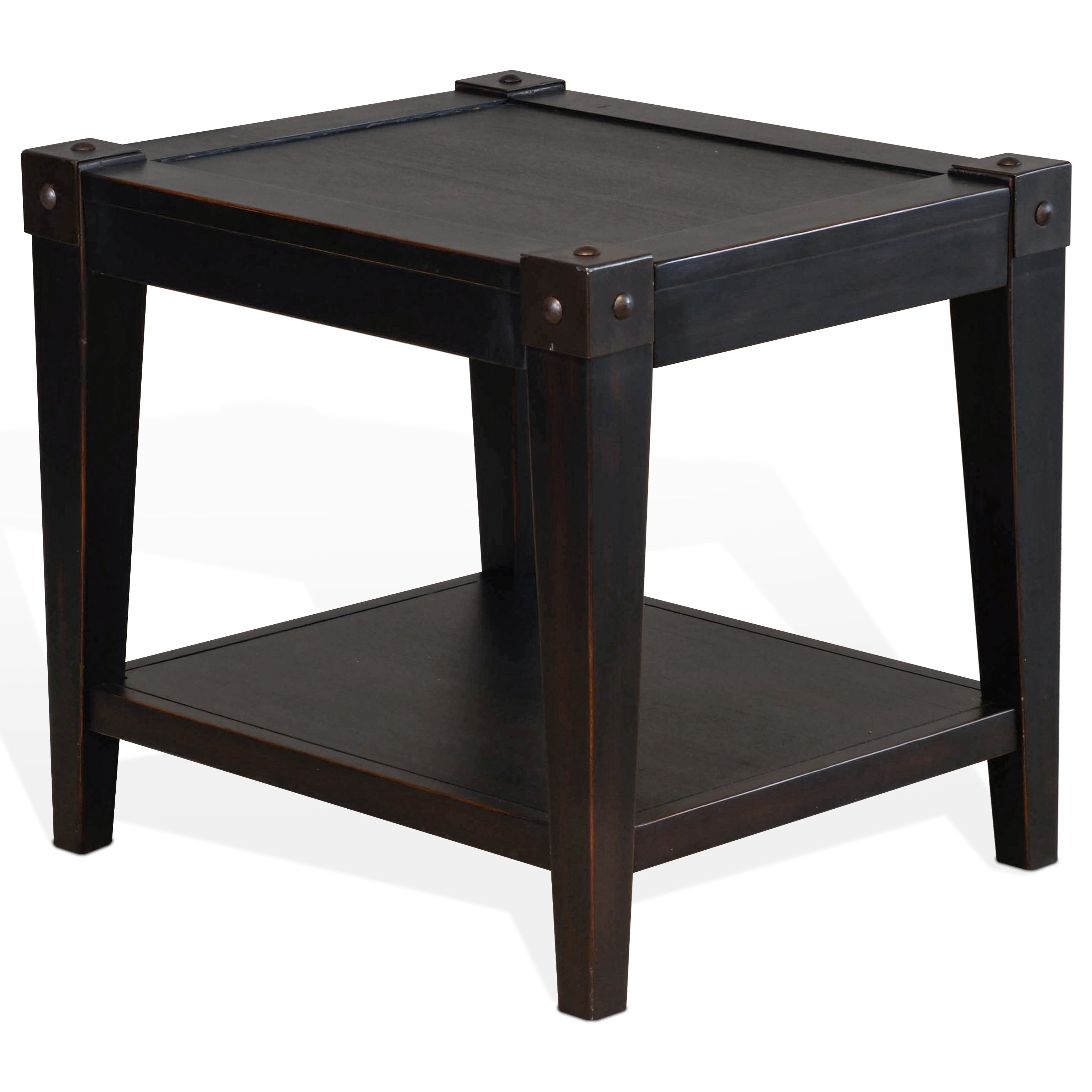Seal Beach End Table With Lower Shelf