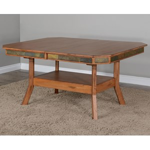 Dual Height Dining Table w/ 2 Leaves