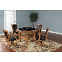 Sunny Designs Sedona 3-Piece Reversible Top Game & Dining Table Set - Detail of Game Table Top