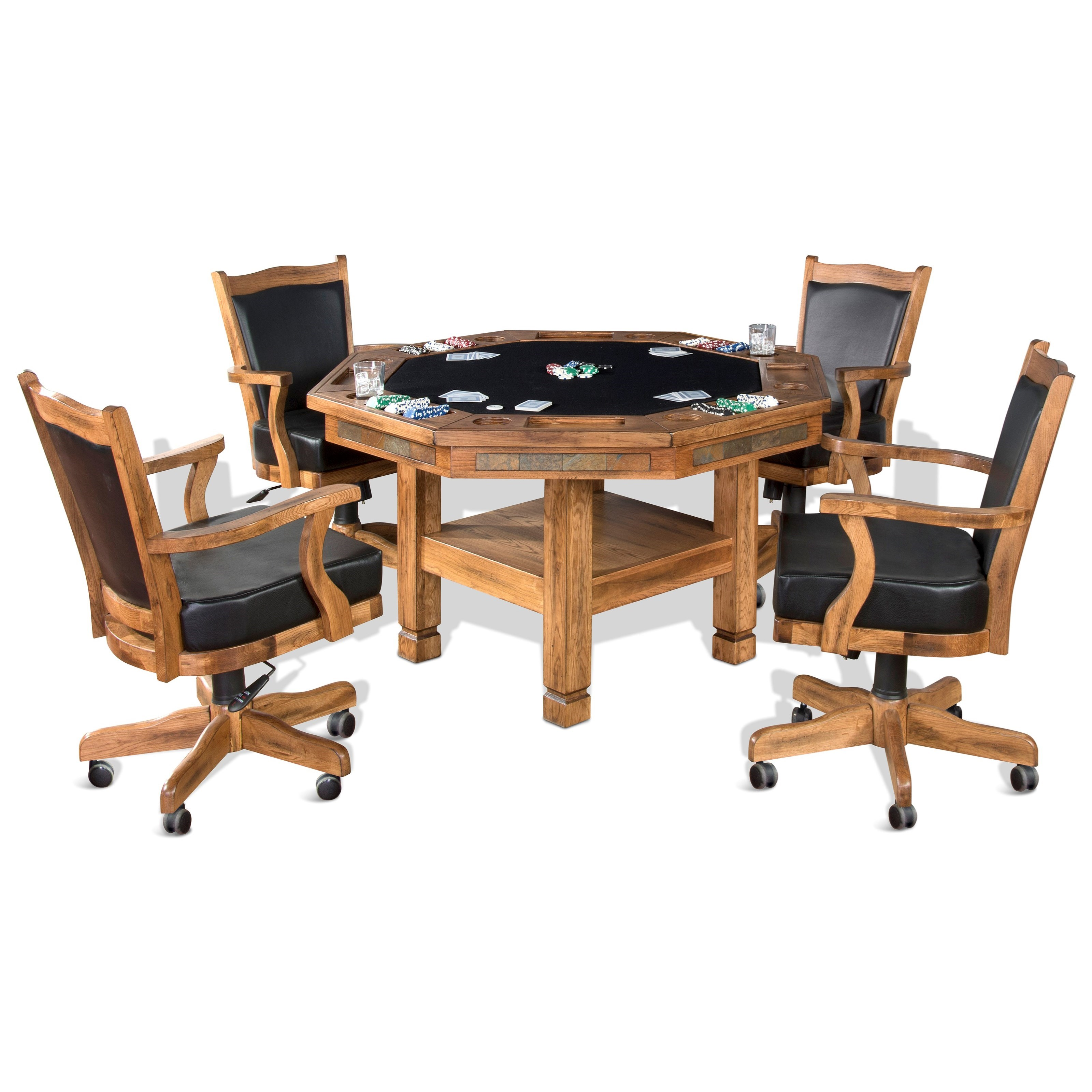 Sedona 5-Piece Game & Dining Table Set by Sunny Designs at Sparks HomeStore