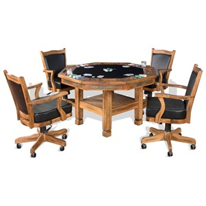 Sunny Designs Sedona 5-Piece Game & Dining Table Set