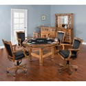 Sunny Designs Sedona 5-Piece Reversible Top Game & Dining Table Set