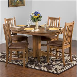 Sunny Designs Sedona 5-Piece Oval Extension Table Set