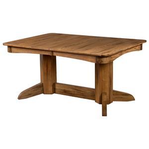Sunny Designs Sedona Trestle Table w/ 2 Leaves