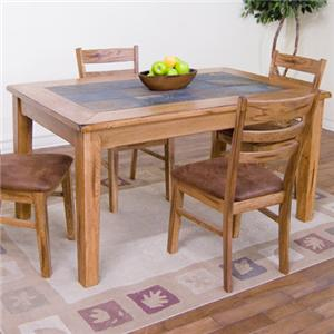 Sunny Designs Sedona Slate Top Rectangular Table