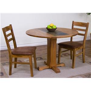 3-Piece Drop-Leaf Table & Chair Set