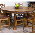 Sunny Designs Sedona Adjustable Height Round Table w/ Lazy Susan - Item Number: 1225RO