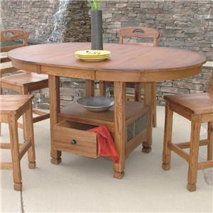 Morris Home Furnishings From Morris Home Furnishings - New Castle Table with Storage