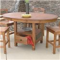 Sunny Designs Sedona Rustic Oak Butterfly Table with Storage